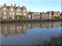 TF4509 : North Brink, Wisbech - Saved by the new flood wall by Richard Humphrey