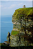R0392 : Cliffs of Moher - Shear vertical Drop from O'Brien's Tower to Atlantic Ocean by Joseph Mischyshyn