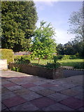 TM3876 : Garden at Highfield Residential Home by Adrian Cable