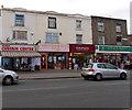 SU3913 : Shirley High Street shops near Marlborough Road, Southampton by Jaggery