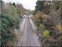 TQ1461 : Oxshott railway station, Surrey by Nigel Thompson