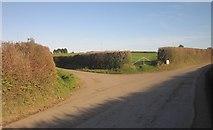 SX3258 : Junction, Bake Lane End by Derek Harper