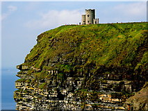 R0392 : Cliffs of Moher - O'Brien's Tower - Horizontal Orientation by Joseph Mischyshyn