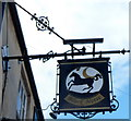 ST9173 : Black Horse name sign, Chippenham by Jaggery