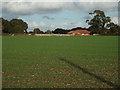 SP0774 : The Wendy House day nursery, Church Lane, Wythall, seen across a field by Robin Stott