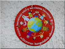 H4572 : Multi-lingual welcome logo, Omagh by Kenneth  Allen