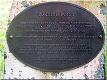 NY3704 : Turning Point sculpture plaque, Rothay Park, Ambleside by Graham Robson