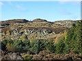 NO0249 : Craggy hillside, Loch Ordie by Richard Webb