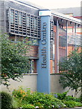 SK3487 : Health Centre Sign, Gell Street, Sheffield by Terry Robinson
