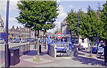 TQ3287 : Harringay, London N4: entrance to Manor House Underground station by Ben Brooksbank