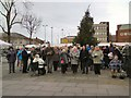 SJ9494 : Church Carol Singers on Hyde Civic Square by Gerald England