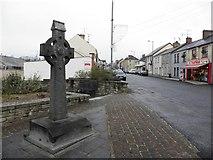 H6357 : Cross and street scene, Ballygawley by Kenneth  Allen
