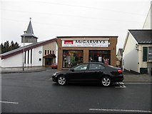 H6357 : McGarveys shop, Ballygawley by Kenneth  Allen