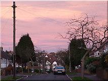 SO9096 : Coloured skies over Penn, Wolverhampton by Roger  Kidd