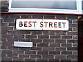 TQ7567 : Vintage street nameplate, Best Street, Chatham by Chris Whippet