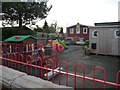 SJ7764 : Playground, south side of Brereton Primary School by Christine Johnstone