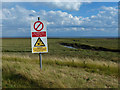TF4750 : Warning sign at RAF Wainfleet bombing range by Mat Fascione