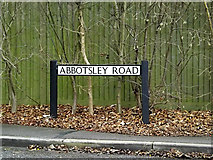 TL2460 : Abbotsley Road sign by Adrian Cable