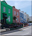 SN1300 : Colourful row of guest houses in Tenby by Jaggery