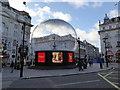 TQ2980 : Eros in a snow globe, Piccadilly Circus by PAUL FARMER