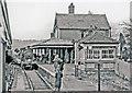 SU8820 : Midhurst station, on last day of passenger services, 1955 by Ben Brooksbank