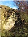 NY9075 : Gunnerton Burn lime kiln - left hand arch by Mike Quinn