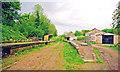 ST6653 : Midsomer Norton & Welton South station, under restoration 2001 by Ben Brooksbank