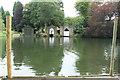 SD3786 : Boat Houses At Newby Bridge by edward mcmaihin