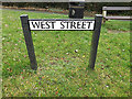 TL2656 : West Street sign by Adrian Cable
