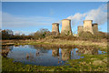 SE6626 : Cooling towers reflected by Trevor Littlewood