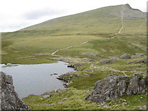 SH6358 : Y Garn from the start of the path up Glyder Fawr by Peter S