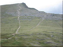 SH6358 : The path up Y Garn by Peter S