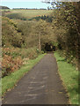 SS9388 : The Ogmore Valley cycle path seen near Lewistown by eswales