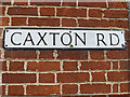 TL2755 : Caxton Road sign by Adrian Cable