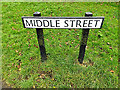 TL2755 : Middle Street sign by Adrian Cable