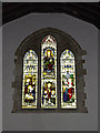TL2755 : Stained Glass Window of St Peter and St Paul Church, Little Gransden by Adrian Cable