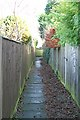 TQ2258 : Alleyway to Sherborne Close by Hugh Craddock