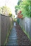 TQ2258 : Alleyway to Sherborne Close by Hugh Craddock