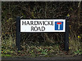 TL2756 : Hardwicke Road sign by Adrian Cable