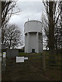 TL2756 : Great Gransden Water Tower by Adrian Cable