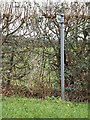 TL2957 : Bridleway sign on Gransden Road by Adrian Cable