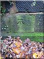 SJ3796 : Bench mark on Fazakerley Brook bridge, Higher Lane by John S Turner
