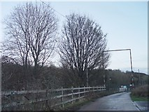 ST8992 : Road to the Sewage Treatment Works in Tetbury by Paul Best
