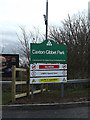 TL2960 : Caxton Gibbet Park sign by Adrian Cable