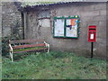 ST7610 : Fifehead Neville: postbox № DT10 23 and noticeboard by Chris Downer