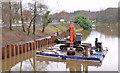J3371 : Crane and pontoon, River Lagan, Belfast (2) by Albert Bridge