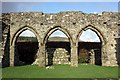 SH7219 : Three arches in Cymer Abbey by Jeff Buck