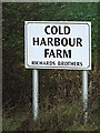 TL3160 : Cold Harbour Farm sign by Adrian Cable