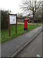 TL3659 : Hardwick Village Map & St.Neots Road Postbox by Adrian Cable