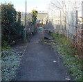 ST6078 : Frosty approach to a railway footbridge, Filton by Jaggery